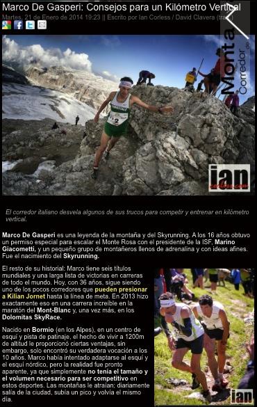 Marco De Gasperi VK corredordemontana.com