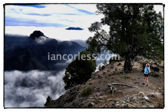 Once through the cloud layer the views are incredible and the temp was 20+ deg