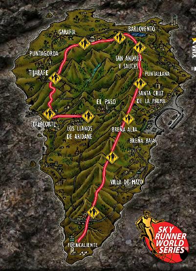 Transvulcania Map