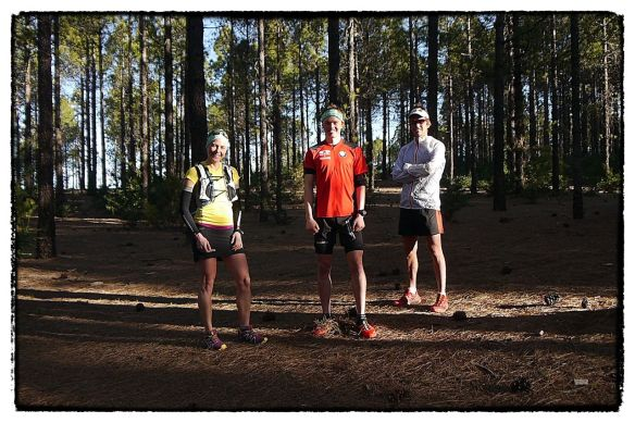 Julia Bottger, Philipp Reiter and Ryan Sandes in Gran Canaria copyright Ian Corless