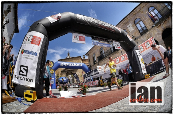 It was really close.... Zegama 2013