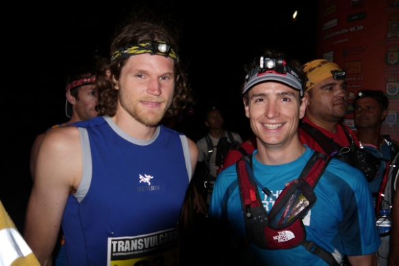 Joe Grant with Ian Sharman at the 2012 edition of the race - copyright Ian Corless