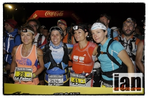 Emilie Lecomte far right, Transvulcania 2013 copyright Ian Corless