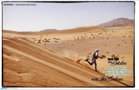 Trail Magazin - Marathon des Sables. iancorless.com