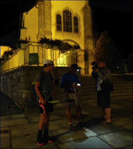 Image James Stewart - Kilian and Mathéo depart Chamonix 04:46am Thurs 11th July