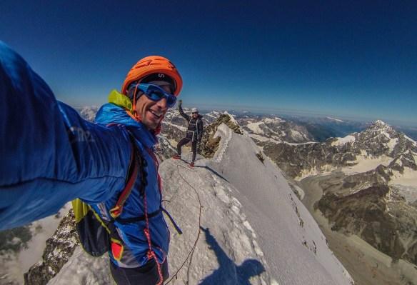 Image taken by Kilian Jornet, Friday Aug 2nd w/ Emelie Forsberg at the summit of the Matterhorn copyright: Kilian Jornet