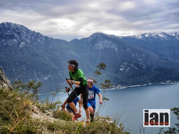 Antonella Confortola leading on the first climb