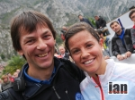 Stevie Kremer with Skyrunning legend and Limone course designer, Fabio Meraldi