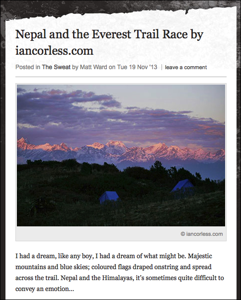 Nepal and Everest Trail Race ©iancorless.com