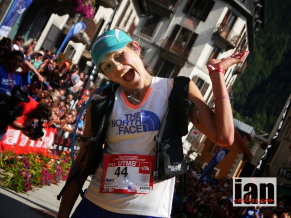 Rory Bosio wearing the FL Race Vest after dominating the 2013 TNFUTMB.
