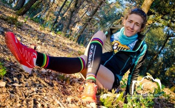 Nuria Picas, Skyrunning Ultra Champion.Photo- Nuria Picas, COMPRESSPORT® brand ambassador. © Orio Battista Viňas