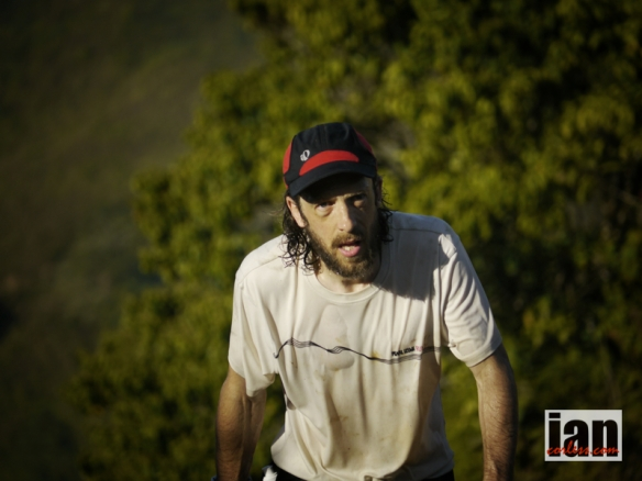 Nick Clark showing the fatigue of hard days and heat TCC2014 ©iancorless.com