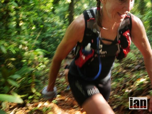 Julia Bottger on the second climb TCC2014 ©iancorless.com