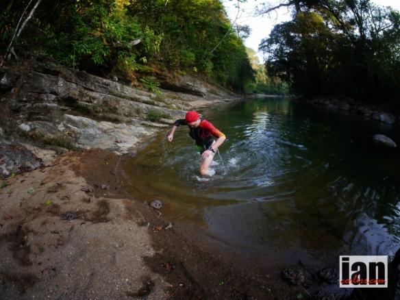 Philipp Reiter in the riverbed TCC2014 ©iancorless.com