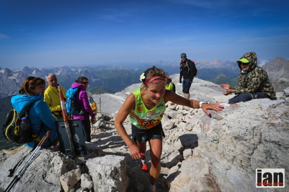 Emelie Forsberg at the Dolomites SkyRace 2014