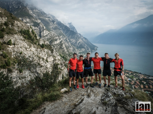 Tom with his inov-8 team members at the Skyrunning Limone Extreme 2014.