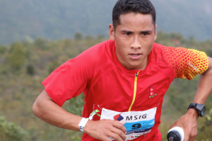Samir Tamang from Nepal in the 50km race