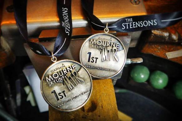 Garmin Mourne Skyline MTR winners medals